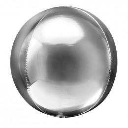 Шарик-сфера Серебряный, металлик