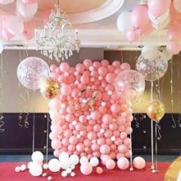 Фотозона из шаров Розовая мечта