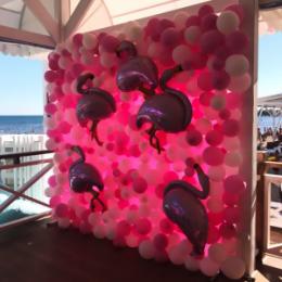 Фотозона из шаров Розовая тайна