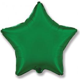Шар-звезда темно-зелёный