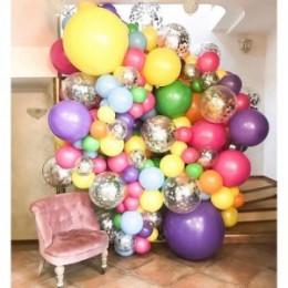 Фотозона из шаров Вкусная жизнь