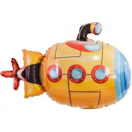 Фигурный шар Подводная лодка, оранжевая