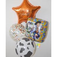Букет воздушных шаров с героями м/ф История игрушек со звездой