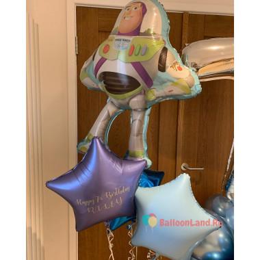 Букет из шаров с гелием История игрушек с Баззом Лайтером и звездами