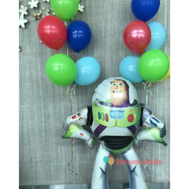 Композиция из воздушных шариков Базз Лайтер из м/ф История Игрушек