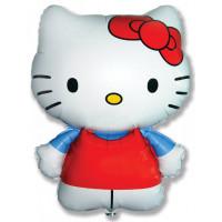Фигурный шар Hello Kitty в синей рубашке