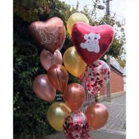 Букет из шаров с сердцами Король Лев