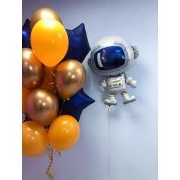 Композиция из воздушных шаров для любителя космоса
