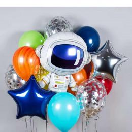 Набор шаров на тематический праздник с Космонавтом