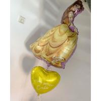 Набор шаров Белль и сердце с Вашими пожеланиями