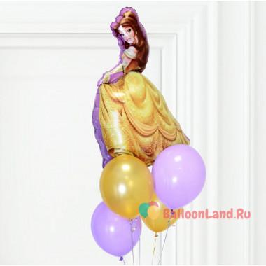 Букет из гелевых шаров с персонажем м/ф Белль