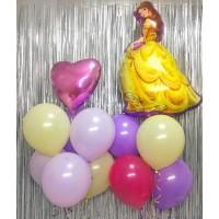 Композиция из гелиевых шаров с героем м/ф Дисней Красавица и Чудовище