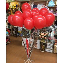 Воздушные латексные шары Красные - дополнительное фото #2