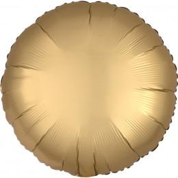 Шар-круг Золотая, сатин