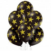Шары Черные с золотыми звездами