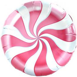 Шар-круг Леденец (розово-белый)