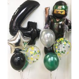 Сет шаров на День Рождения Ллойд с цифрой