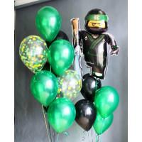 Набор воздушных шариков с Ллойдом из Лего Ниндзяго