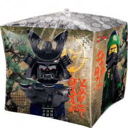 Шар-куб Злодей в шлеме из мультика Лего Ниндзяго