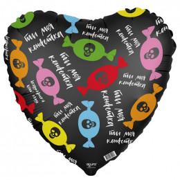 Шар-сердце Ты моя конфетка ( с черпами)