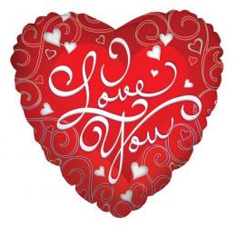 Шар-сердце I love you (красный)