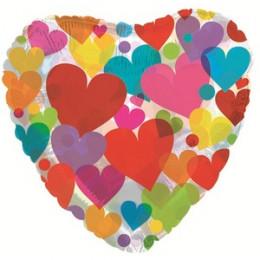 Шар-сердце Разноцветные сердца