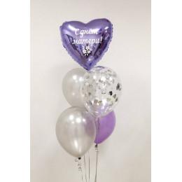 Букет гелиевых шаров для мамы с вашим поздравлением