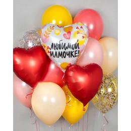 Сет из шариков с гелием поздравление для мамочки