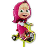 Фигурный шар Маша на красном велосипеде