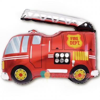 Фигурный шар Красная пожарная машина