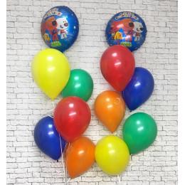 Композиция из гелевых шариков Ми-ми-мишки ребенку на День Рождения