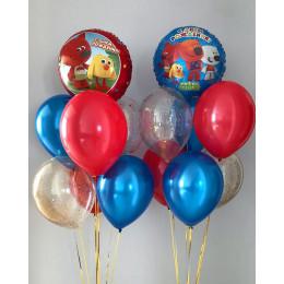 Композиция из шариков на День Рождения с Ми-ми-мишками