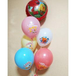 Букет из гелевых шариков с персонажами мультфильма Ми-ми-мишки