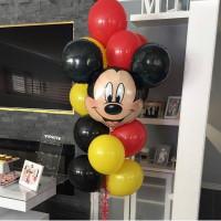 Букет из воздушных шариков с рожицей Микки Мауса