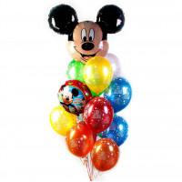 Букет из шаров Микки на День Рождения