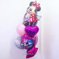 Букет из шаров с мультперсонажем Минни Маус