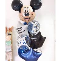 Букет шаров с Микки Маусом и звездами с вашими поздравлениями