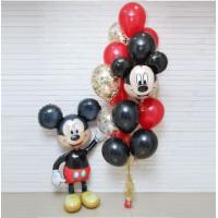 Сет шаров с фонтаном и фигурой Микки