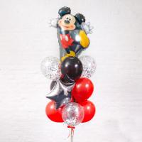 Фонтан из воздушных шаров Танцующий Микки