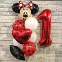 Сет шаров на День Рождения Минни Маус с цифрой