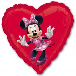 Шар-сердце Счастливая Минни