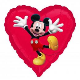 Шар-сердце Танцующий Микки Маус