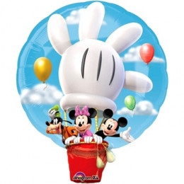Фигурный шар Микки и его друзья на воздушном шаре