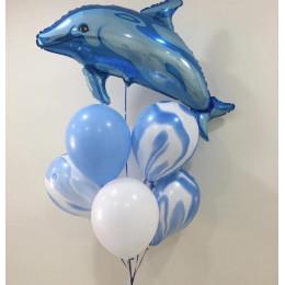 Букет гелиевых шаров Милый дельфин
