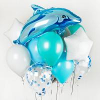 Композиция из воздушных шаров Дельфинчик