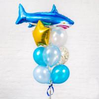 Фонтан гелиевых шаров Акула