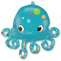 Фигурный шар Синий осьминог