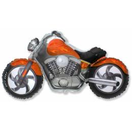 Фигурный шар Оранжевый Мотоцикл