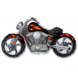 Фигурный шар Черный Мотоцикл