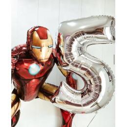 Сет из шаров с гелием Железный Человек на пятилетие